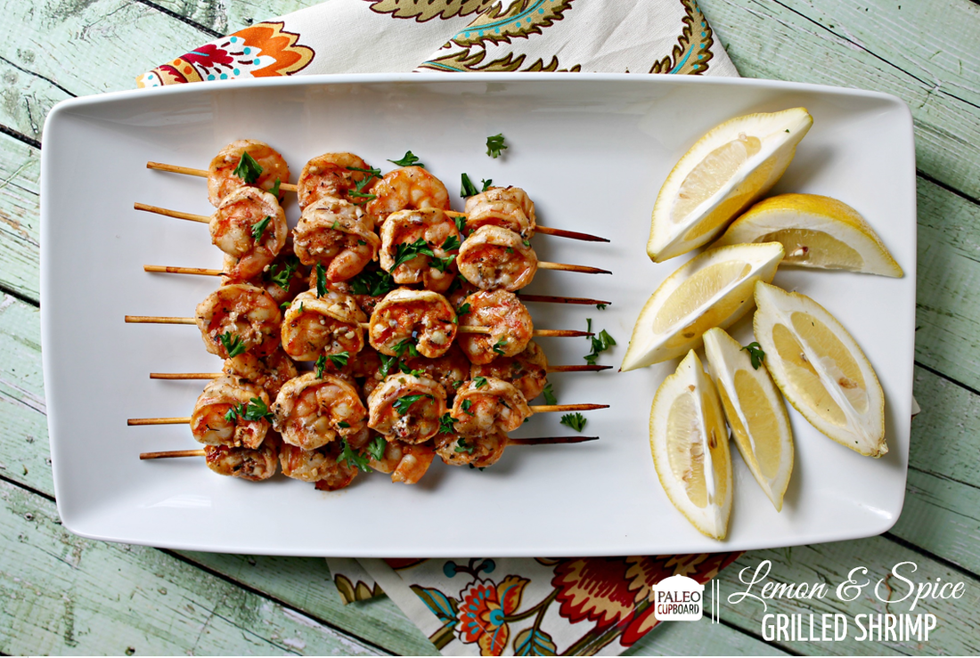 Paleo Lemon and Shrimp Kabobs